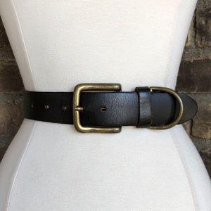 Vintage Belt M Women's Wide Leather Brown Harness